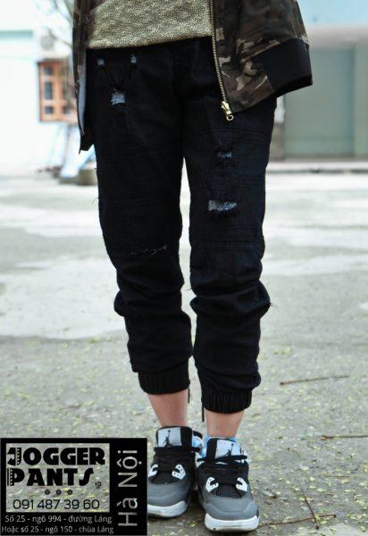 Quần jogger jean rách hà nội