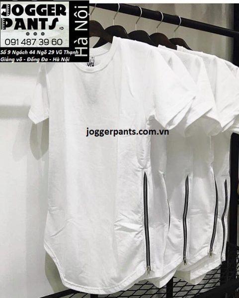 Áo ziptee màu trắng cực đẹp