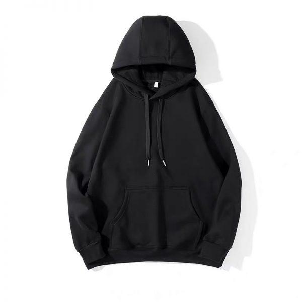 Áo hoodie đen trơn fom unisex cho cả nam và nữ đã ra mắt